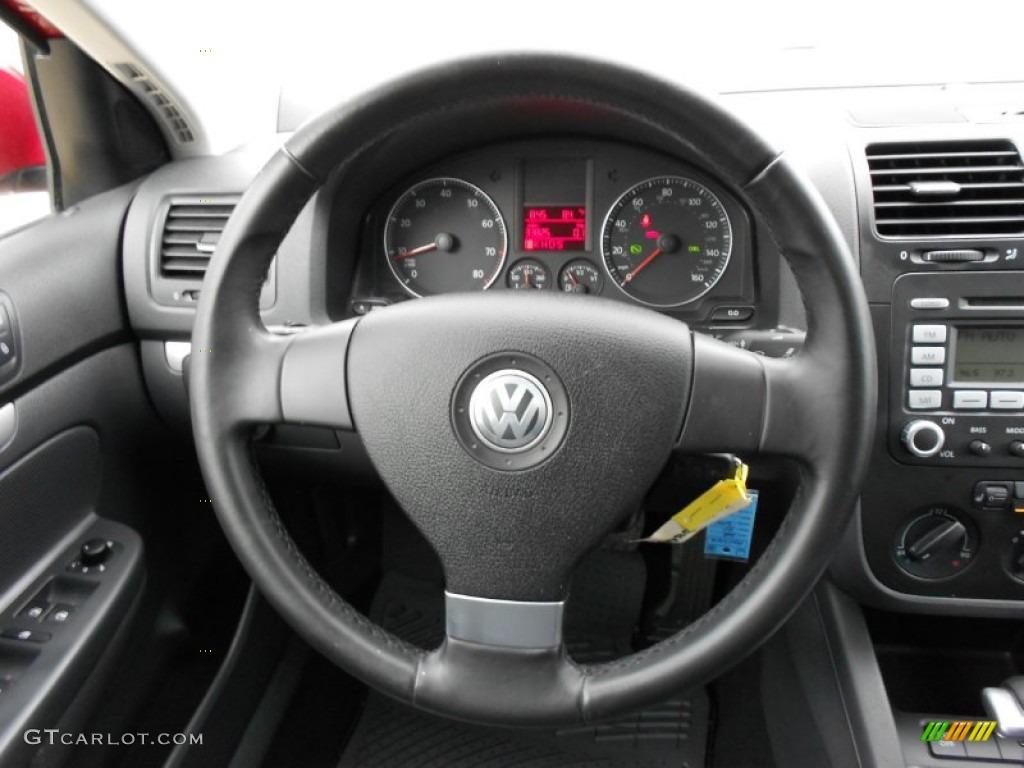 2008 Volkswagen Jetta Wolfsburg Edition Sedan Anthracite Black Steering Wheel Photo #51816200 ...