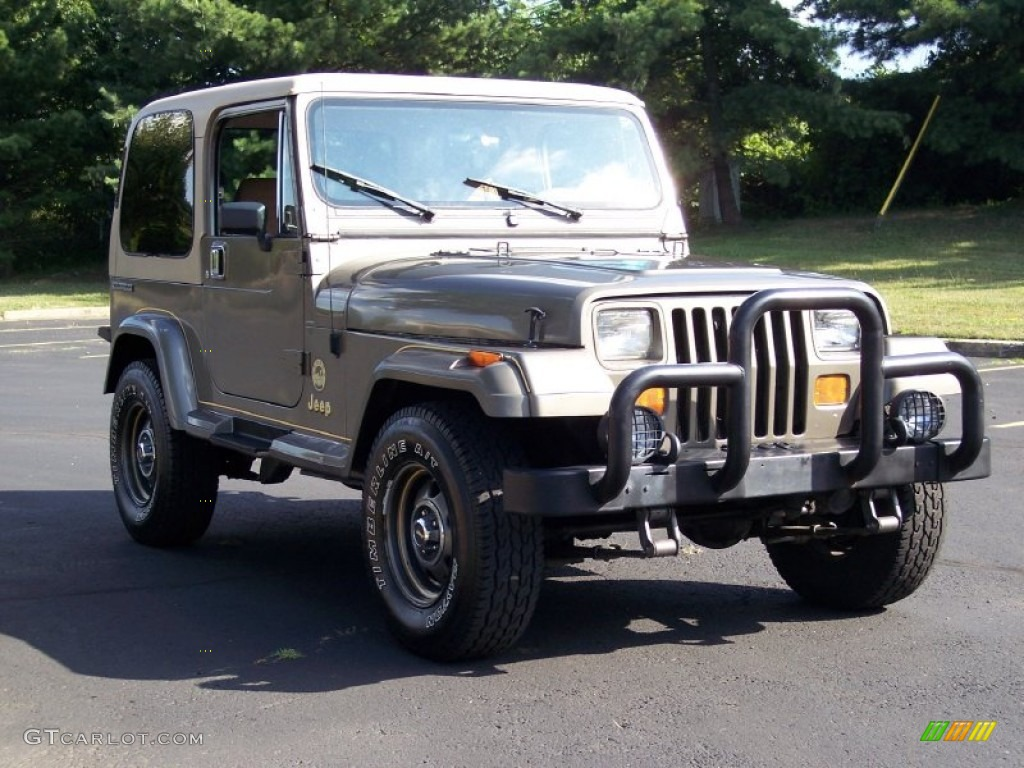 1990 Sand Beige Metallic Jeep Wrangler Sahara 4x4