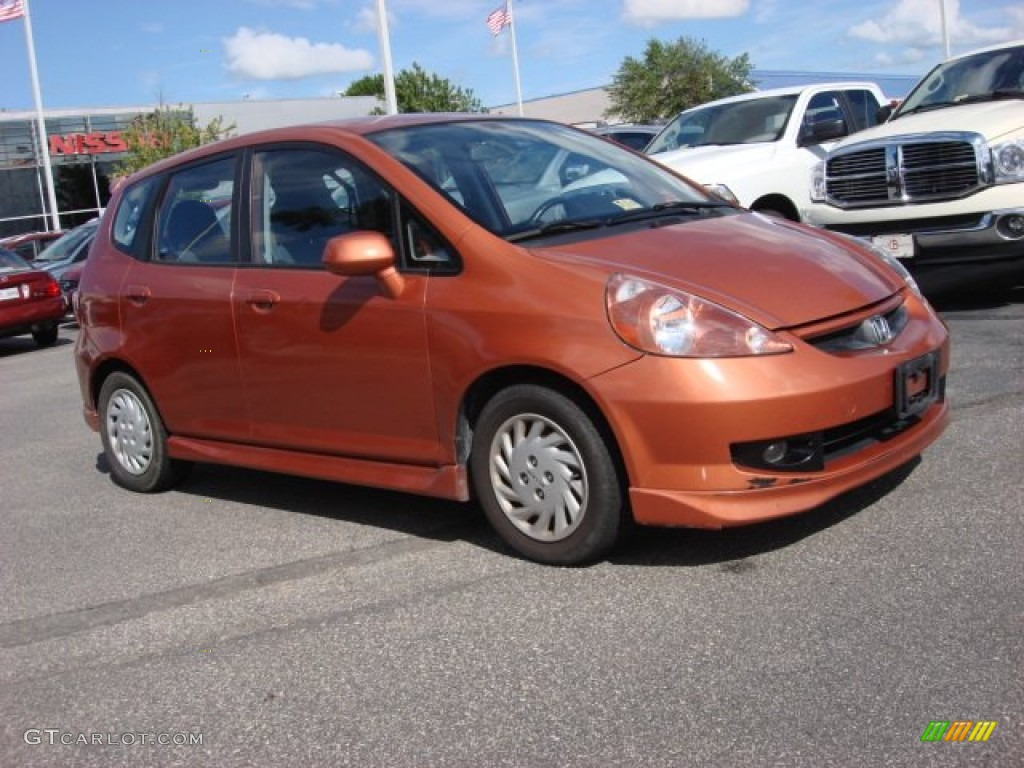 2008 blaze orange metallic honda fit sport 51825042 for Orange honda fit