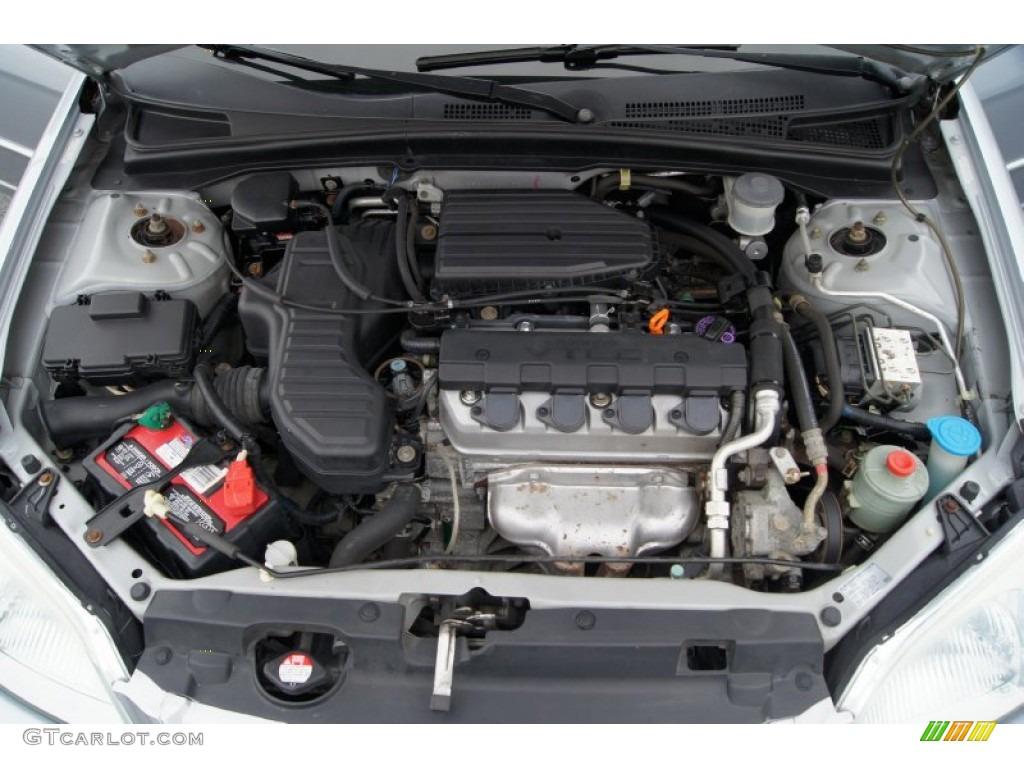 2002 honda civic ex sedan 1 7 liter sohc 16 valve 4 cylinder engine photo 51836026. Black Bedroom Furniture Sets. Home Design Ideas