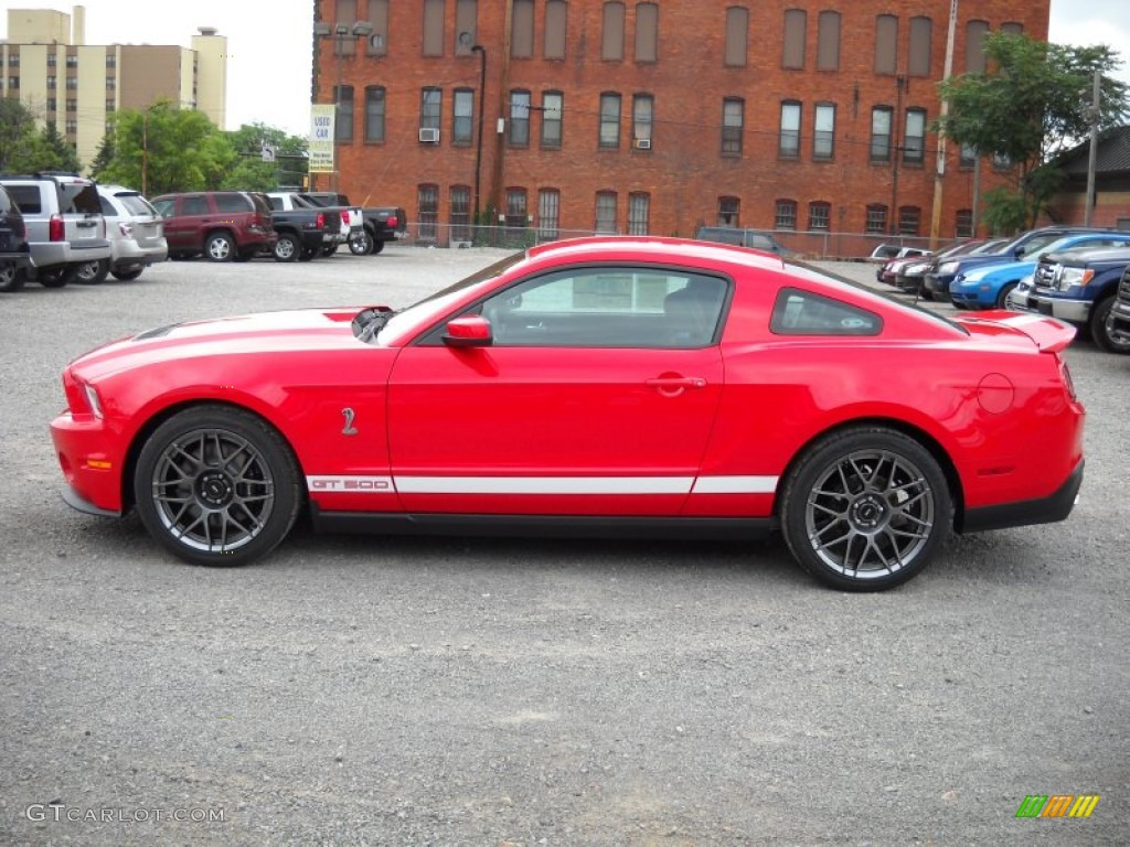 race red 2012 ford mustang shelby gt500 svt performance package coupe exterior photo 51837661. Black Bedroom Furniture Sets. Home Design Ideas
