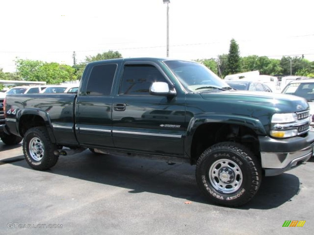 Forest Green Metallic 2001 Chevrolet Silverado 2500HD LS Extended Cab