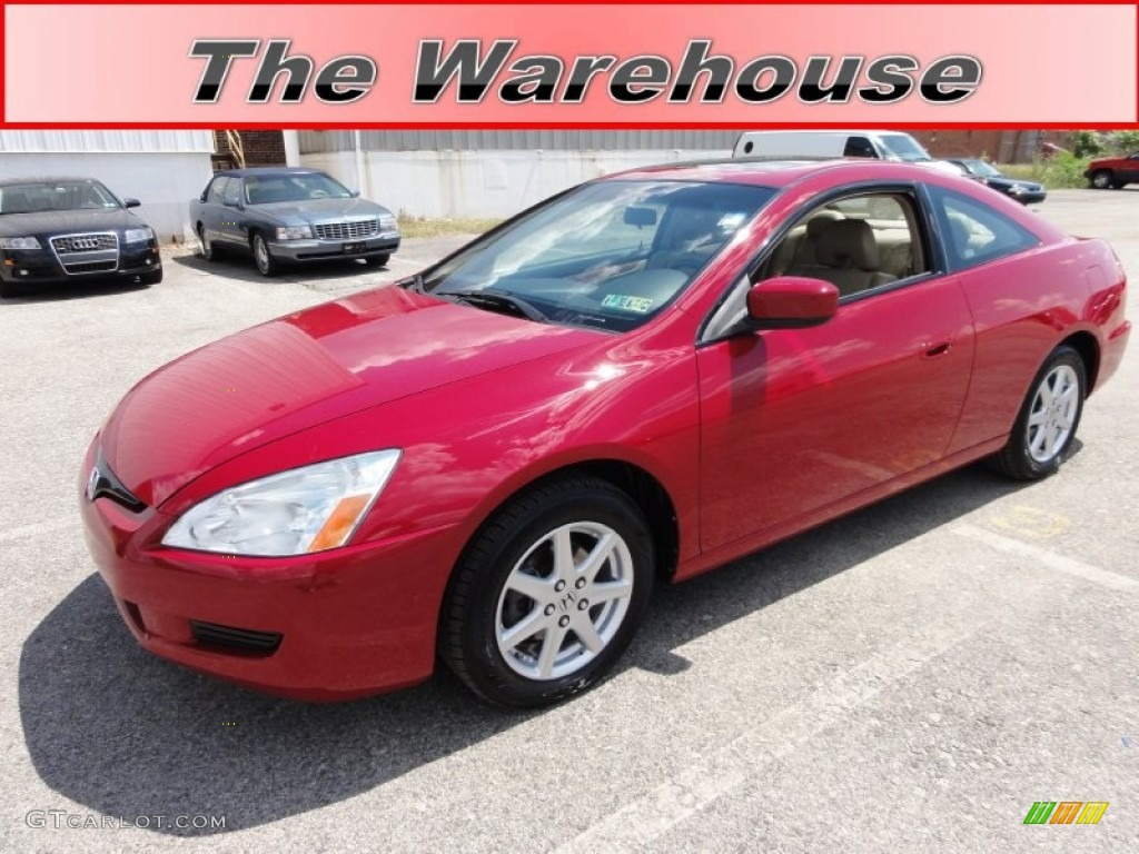 2004 san marino red pearl honda accord ex v6 coupe 51848513 car color galleries. Black Bedroom Furniture Sets. Home Design Ideas