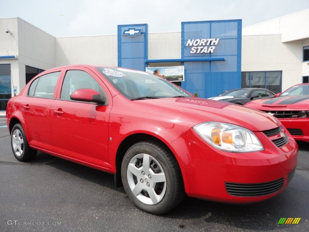 2007 Cobalt LT Sedan - Victory Red / Neutral Beige photo #1