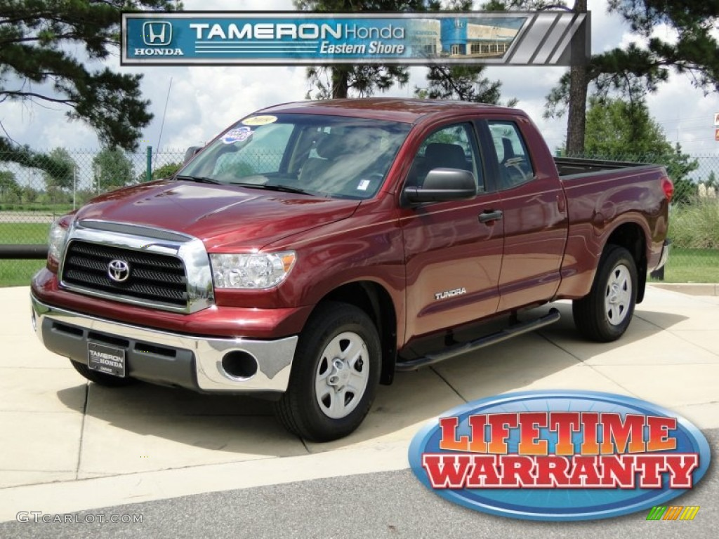2009 Tundra Double Cab - Salsa Red Pearl / Sand photo #1