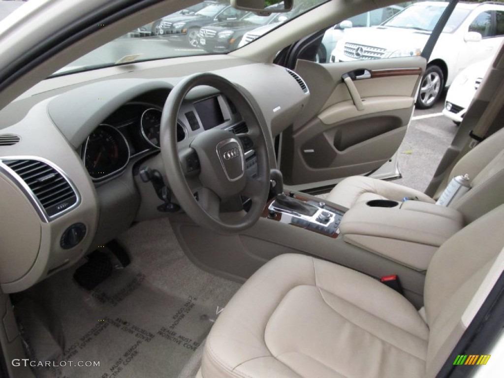 Cardamom Beige Interior 2007 Audi Q7 4 2 Premium Quattro