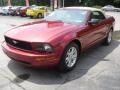 2007 Redfire Metallic Ford Mustang V6 Deluxe Convertible  photo #2