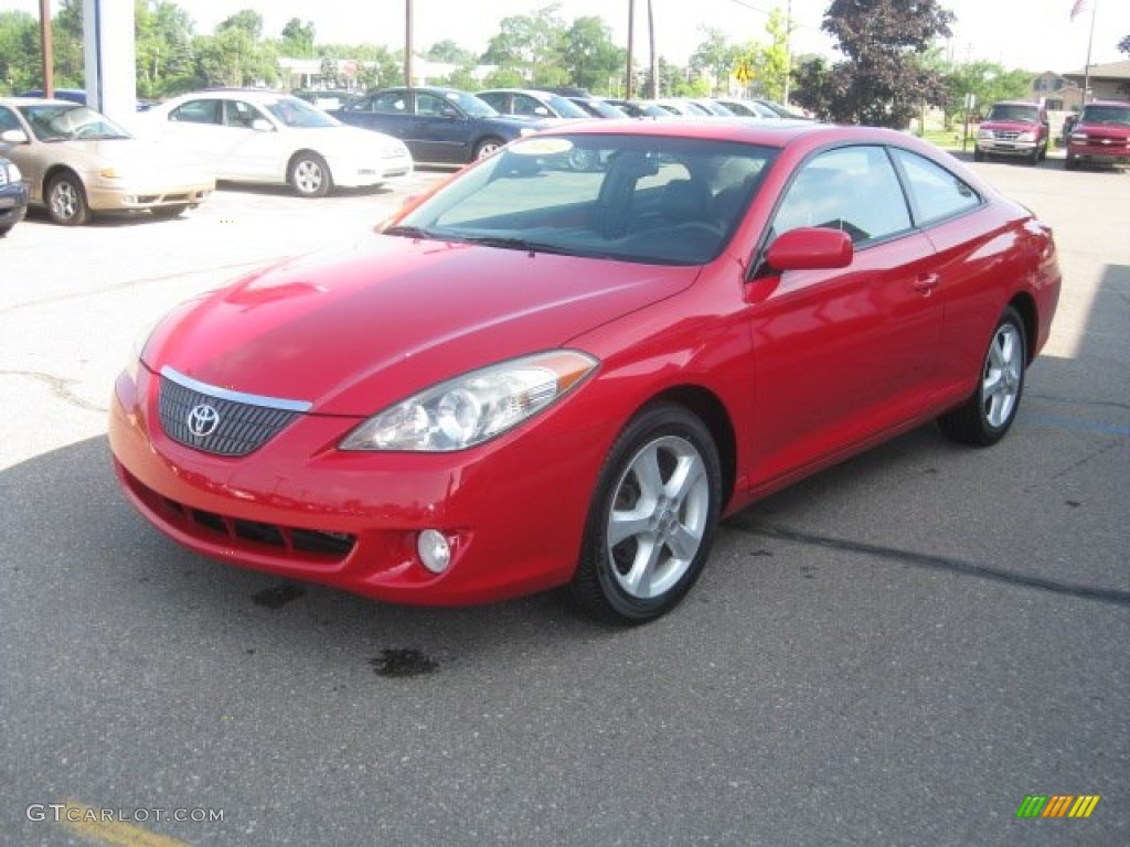 absolutely red 2004 toyota solara sle v6 coupe exterior. Black Bedroom Furniture Sets. Home Design Ideas