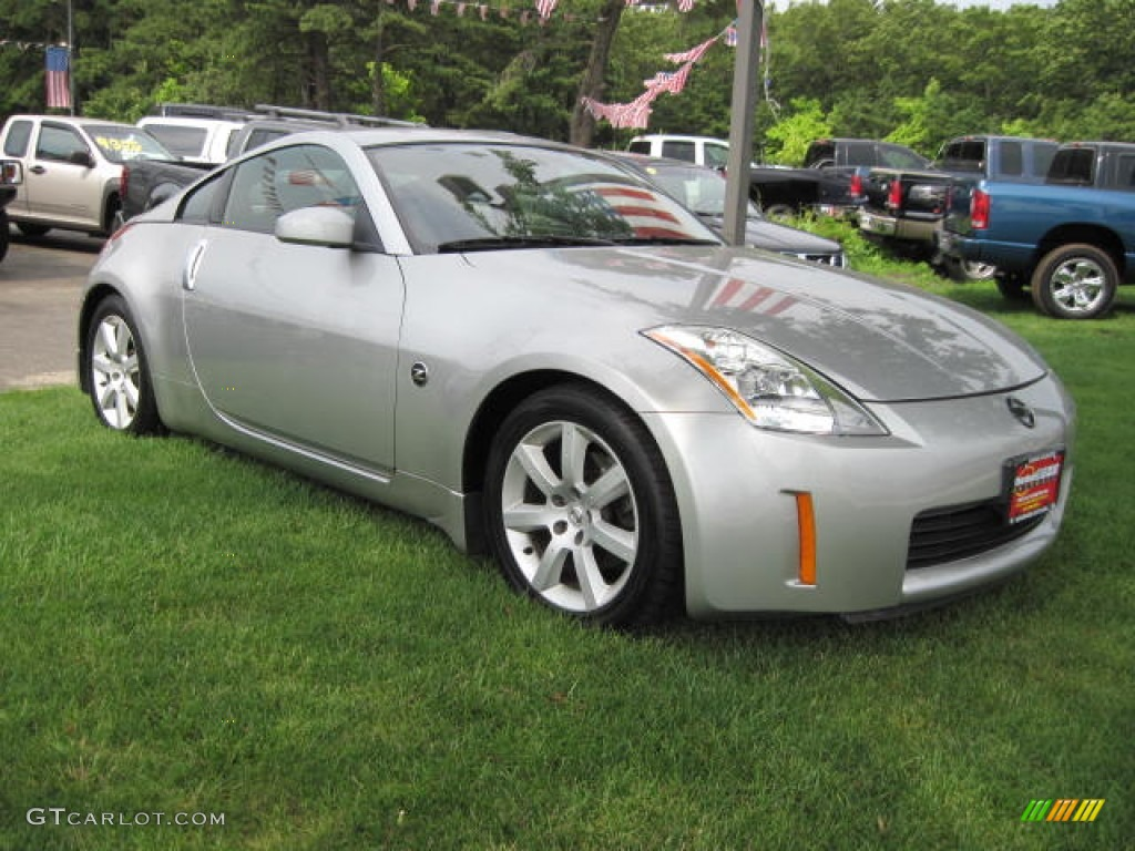 silverstone metallic 2003 nissan 350z coupe exterior photo. Black Bedroom Furniture Sets. Home Design Ideas