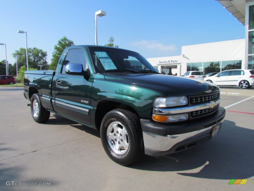 forest green metallic 2002 chevrolet silverado 1500 ls regular cab exterior photo 51979523. Black Bedroom Furniture Sets. Home Design Ideas