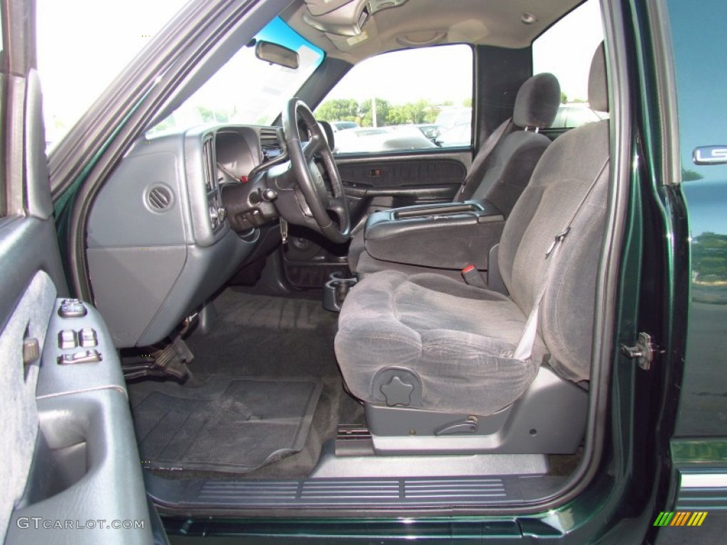 Captivating Graphite Gray Interior 2002 Chevrolet Silverado 1500 LS Regular Cab Photo  #51979547 Good Ideas