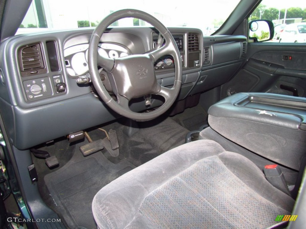 Elegant Graphite Gray Interior 2002 Chevrolet Silverado 1500 LS Regular Cab Photo  #51979592 Design Inspirations