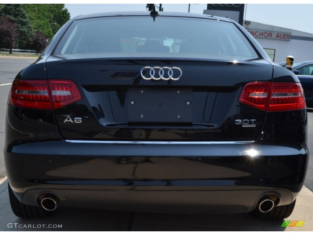 Brilliant Black 2009 Audi A6 3 0t Quattro Sedan Exterior