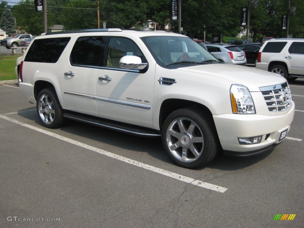 2011 Escalade ESV Luxury AWD - White Diamond Tricoat / Cashmere/Cocoa