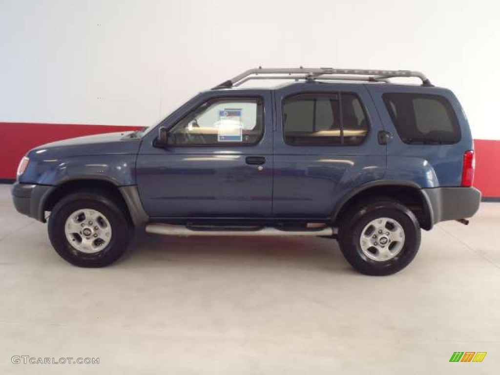 2000 denim blue metallic nissan xterra xe v6 51988586. Black Bedroom Furniture Sets. Home Design Ideas