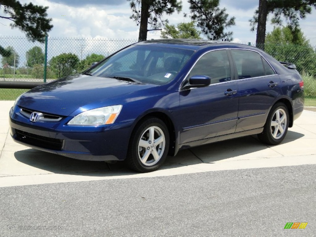 Eternal Blue Pearl 2004 Honda Accord Ex Sedan Exterior