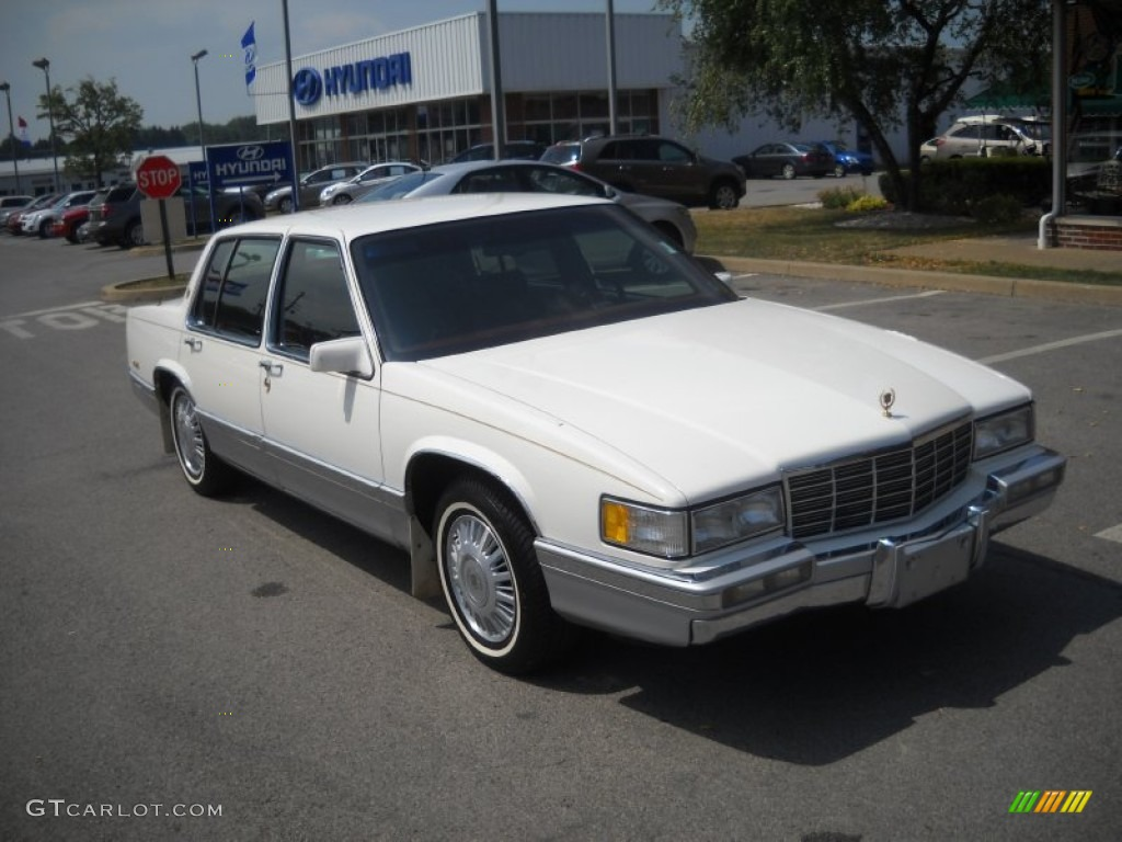1992 white cadillac deville sedan 51989180. Cars Review. Best American Auto & Cars Review