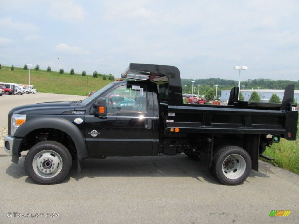 2011 f450 super duty xl regular cab 4x4 chassis dump truck black steel photo
