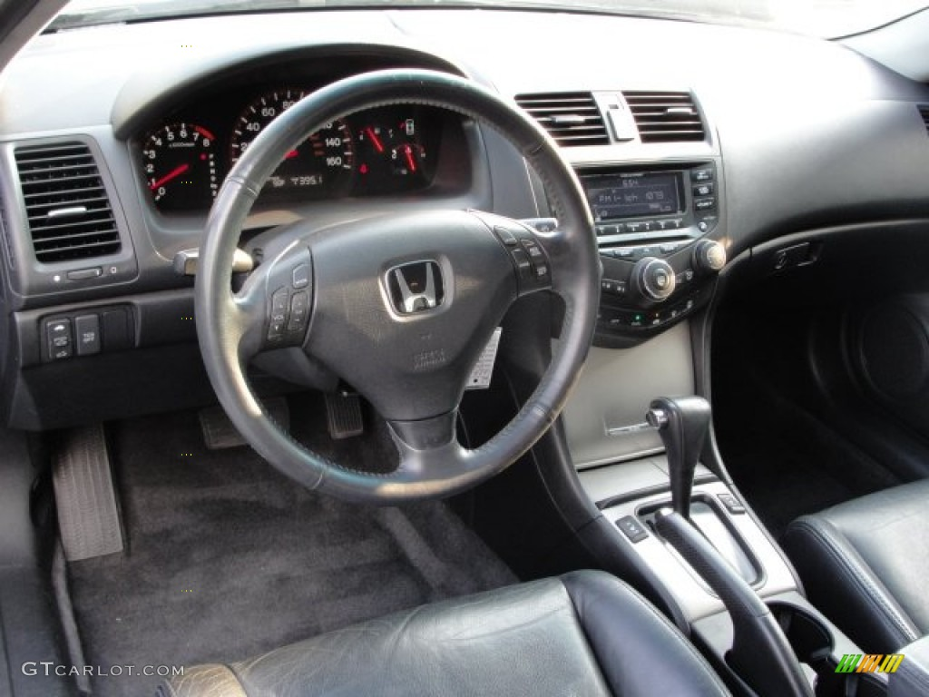 Black Interior 2004 Honda Accord Ex V6 Coupe Photo