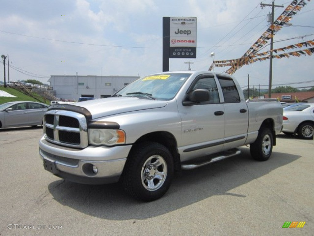 2002 Ram 1500 ST Quad Cab 4x4 - Bright Silver Metallic / Dark Slate Gray photo #1