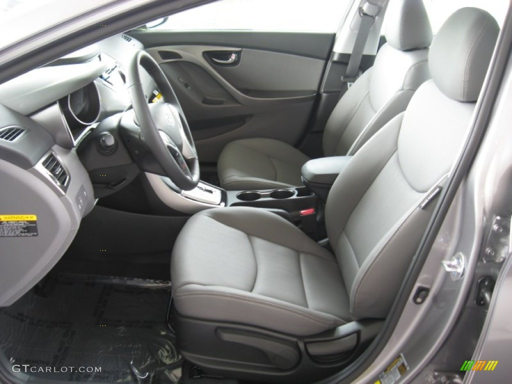 Gray Interior 2012 Hyundai Elantra Limited Photo 52050881