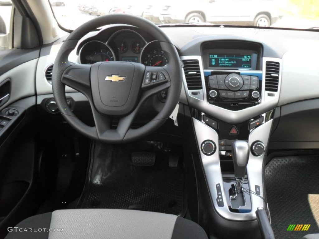 Elegant 2012 Chevrolet Cruze LS Jet Black/Medium Titanium Dashboard Photo #52085657
