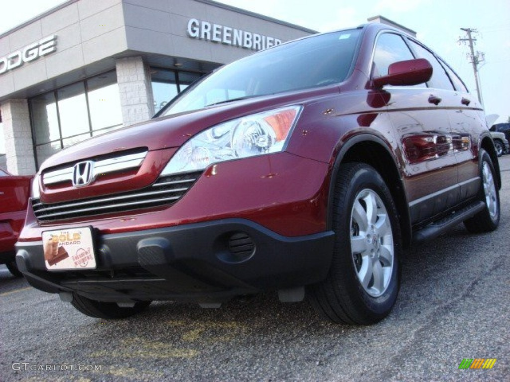 2009 CR-V EX-L - Tango Red Pearl / Gray photo #1
