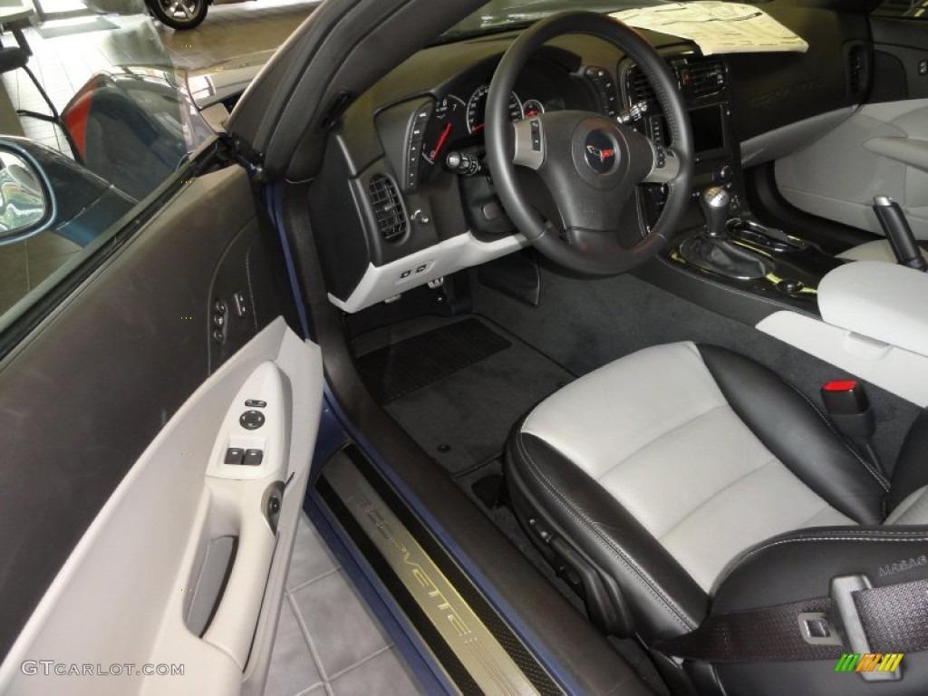 Titanium Gray Interior 2011 Chevrolet Corvette Grand Sport