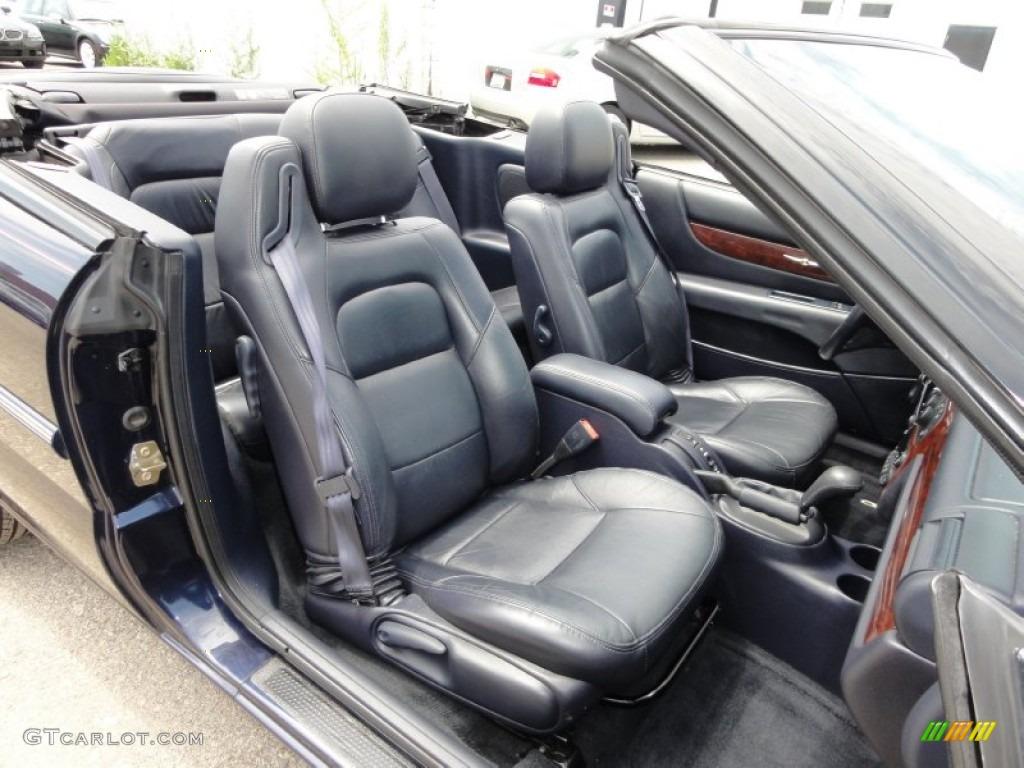 Deep Royal Blue Interior 2002 Chrysler Sebring Limited Convertible Photo 52102802