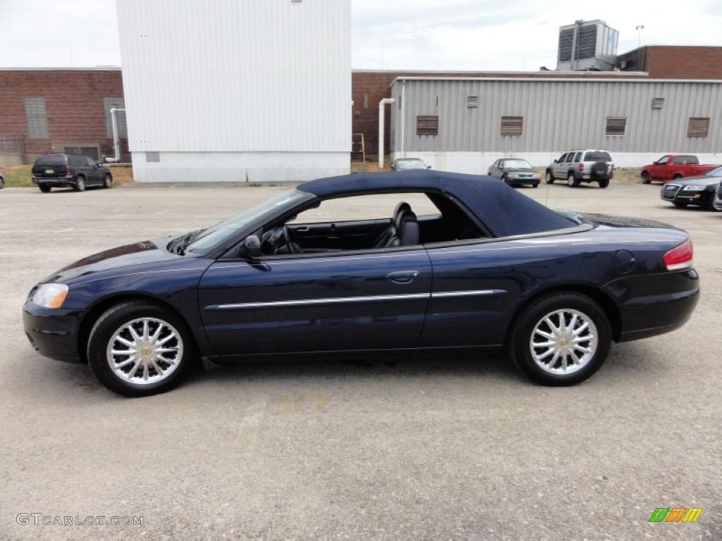 Deep Shire Blue Pearl 2002 Chrysler Sebring Limited Convertible Exterior Photo 52103219