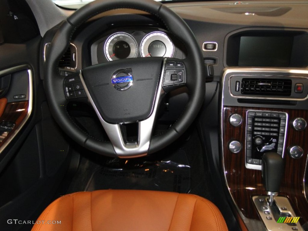 2012 Volvo S60 T5 Beechwood Brown/Off Black Dashboard Photo #52114300 | GTCarLot.com