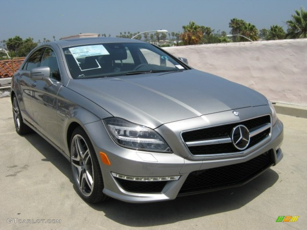 2012 palladium silver metallic mercedes benz cls 63 amg for Mercedes benz silver