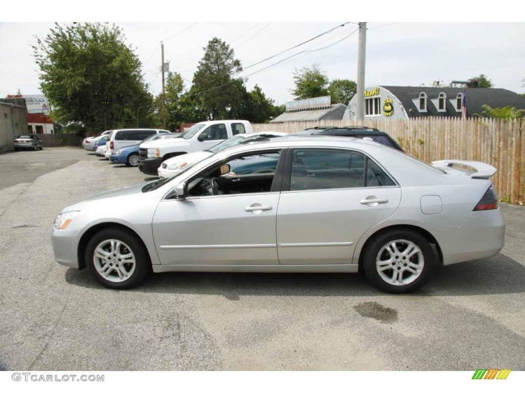 Alabaster Silver Metallic 2007 Honda Accord Ex L Sedan