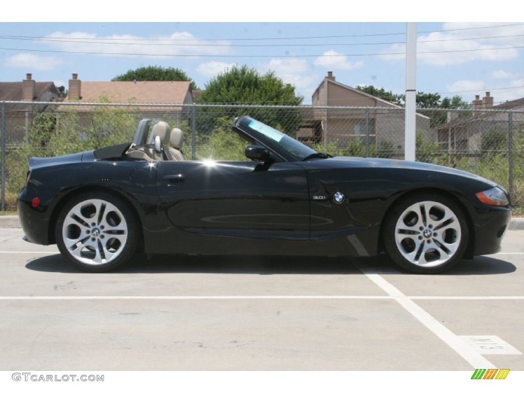 Jet Black 2004 Bmw Z4 3 0i Roadster Exterior Photo 52128568 Gtcarlot Com