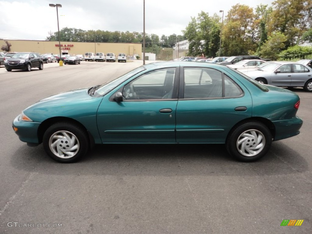 medium green metallic 1999 chevrolet cavalier sedan. Black Bedroom Furniture Sets. Home Design Ideas