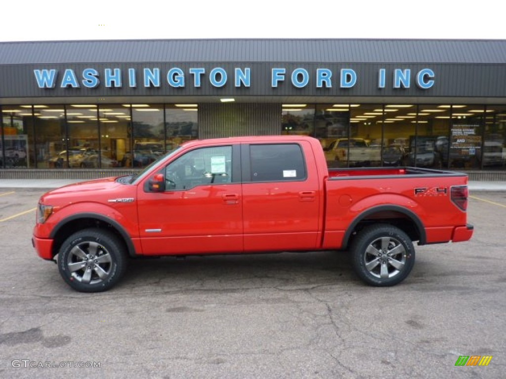 2011 Race Red Ford F150 FX4 SuperCrew 4x4 #52118104 ...