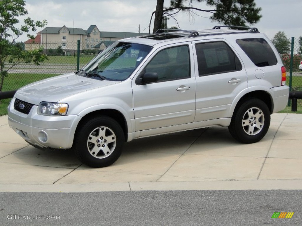 Silver Metallic 2005 Ford Escape Limited 4wd Exterior