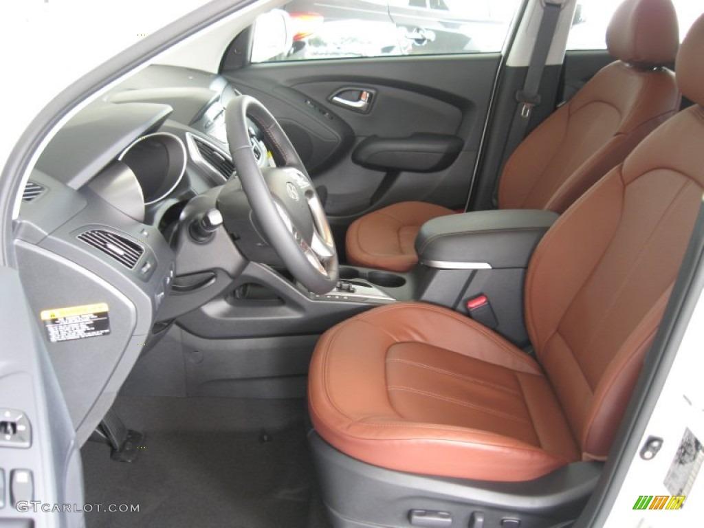 Black Saddle Interior 2012 Hyundai Tucson Limited Photo 52156800