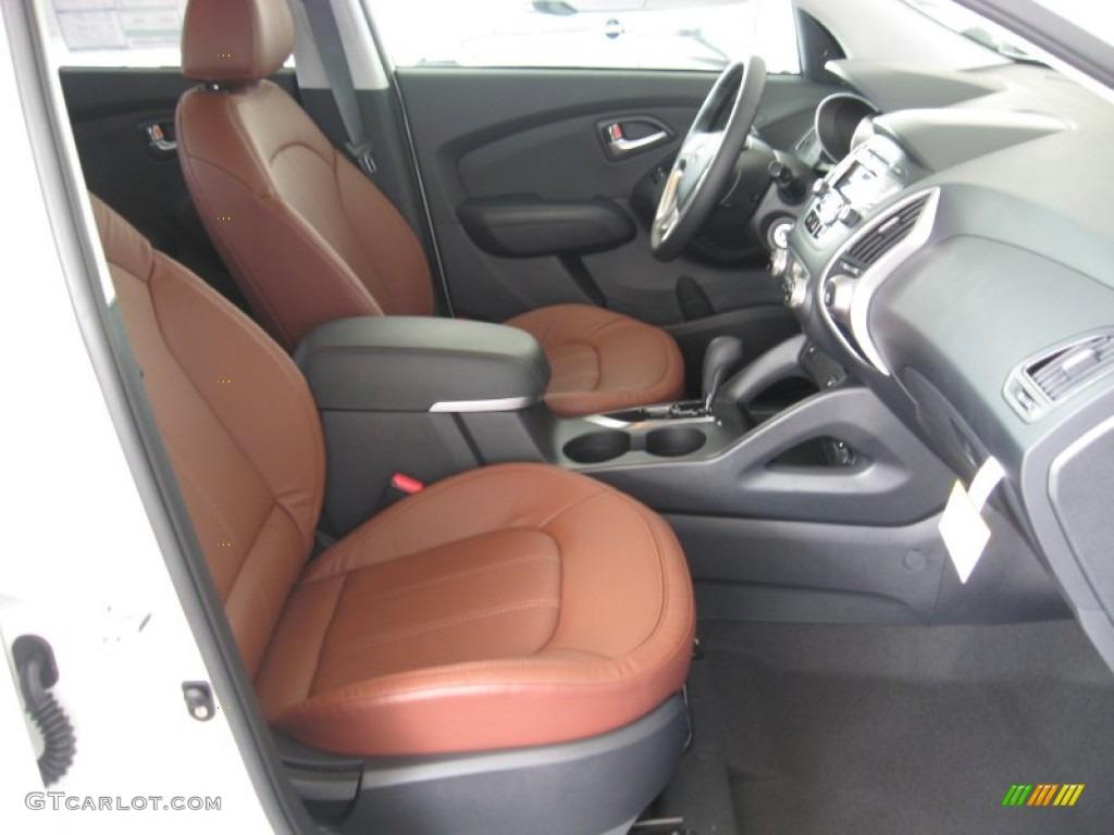 Black Saddle Interior 2012 Hyundai Tucson Limited Photo 52156884