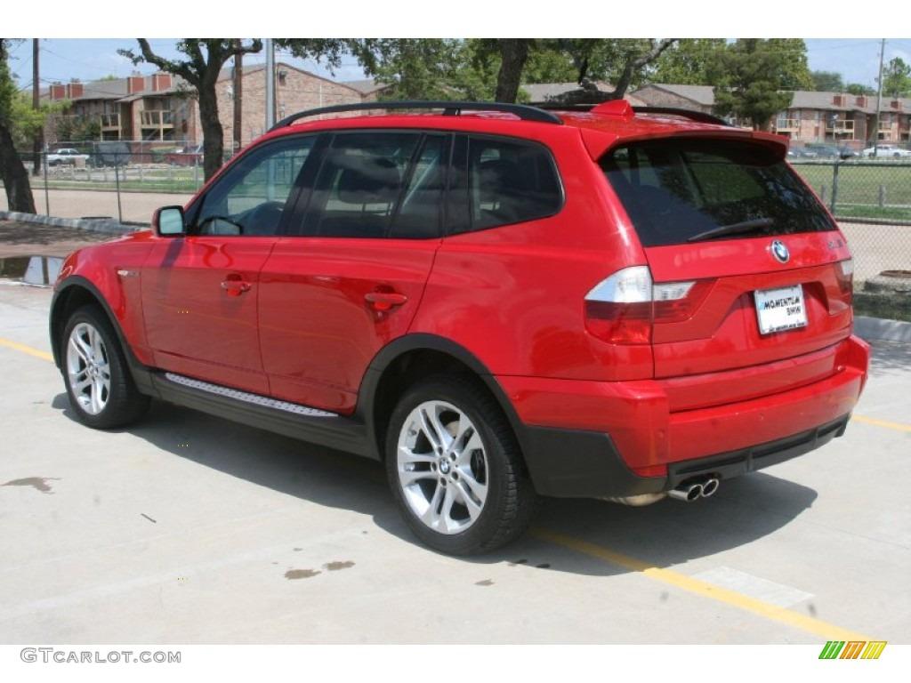 2008 Crimson Red BMW X3 30si 52150282 Photo 2