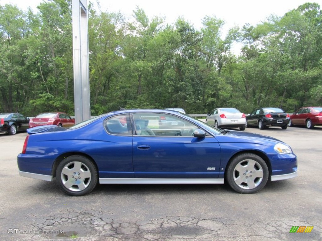 laser blue metallic 2006 chevrolet monte carlo ss exterior. Black Bedroom Furniture Sets. Home Design Ideas