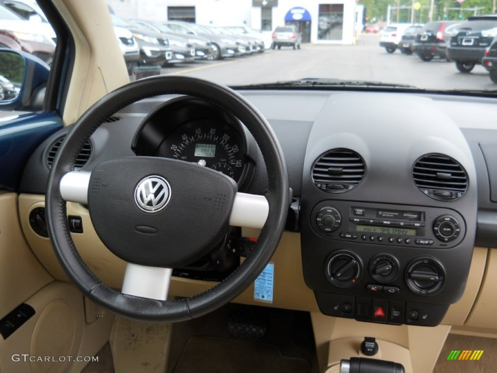 2002 Volkswagen New Beetle Gls Coupe Cream Beige Dashboard Photo 52163518