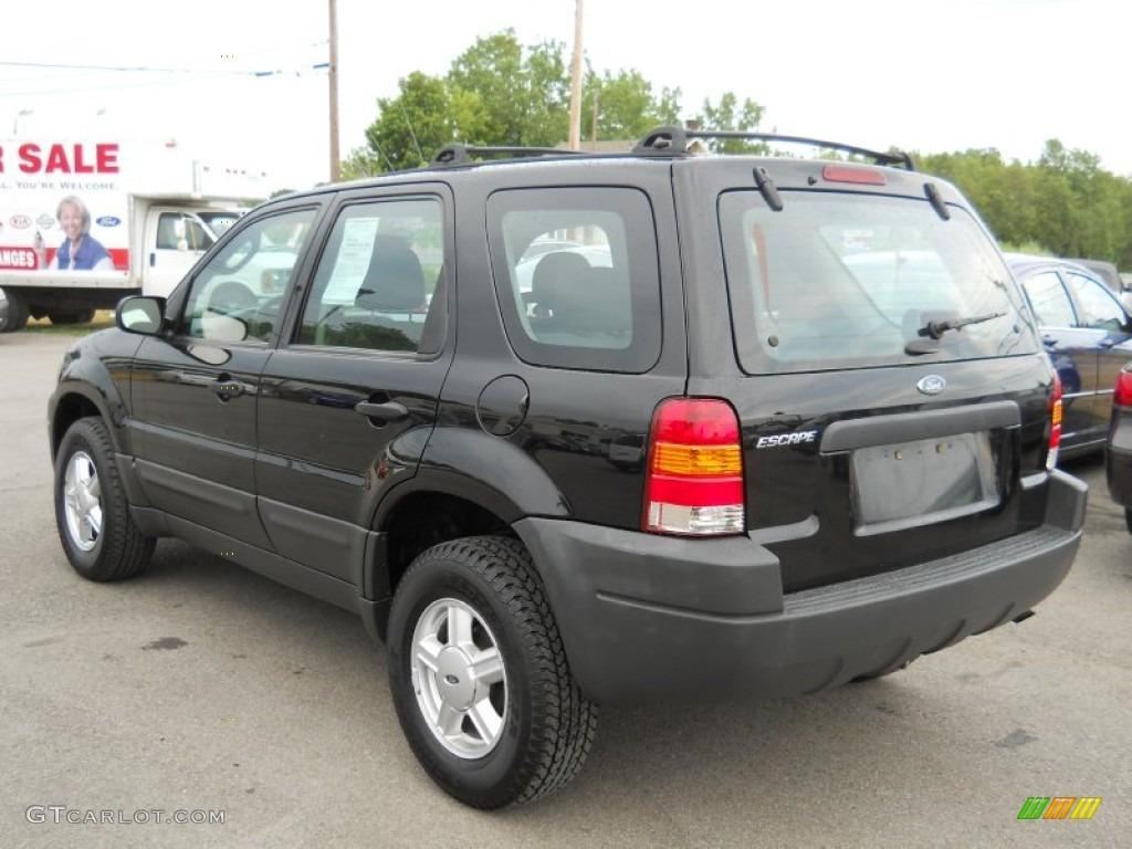 Black 2004 Ford Escape Xls V6 Exterior Photo 52165675