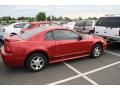 2000 Laser Red Metallic Ford Mustang V6 Coupe  photo #2