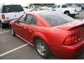2000 Laser Red Metallic Ford Mustang V6 Coupe  photo #3