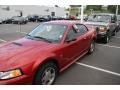 2000 Laser Red Metallic Ford Mustang V6 Coupe  photo #4