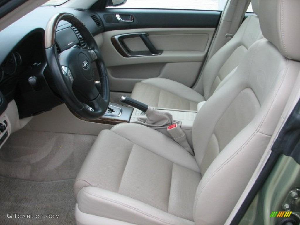 Taupe Leather Interior 2007 Subaru Outback 3 0r L L Bean Edition Wagon Photo 52173745