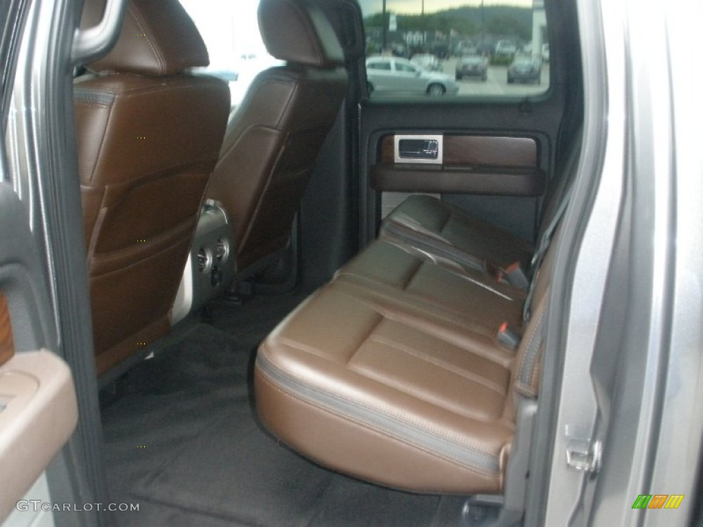 Sienna Brown Leather Black Interior 2009 Ford F150