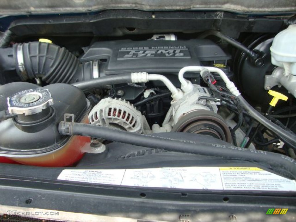 2003 dodge ram 1500 slt regular cab 4x4 5 7 liter hemi ohv 16 valve v8 engine photo 52177504. Black Bedroom Furniture Sets. Home Design Ideas