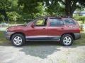 2004 Merlot Red Hyundai Santa Fe GLS  photo #2